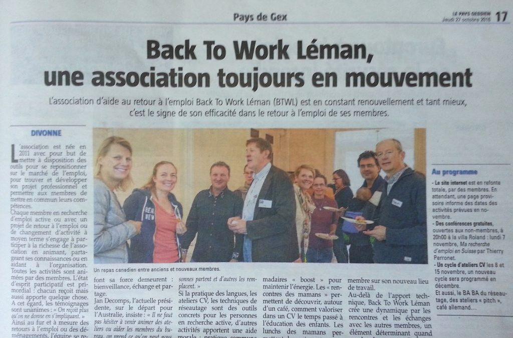 Back To Work Leman, toujours en mouvement !