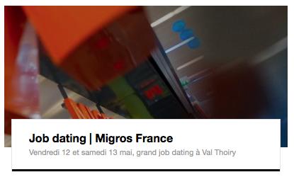 Job dating à Val Thoiry