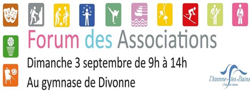 Dimanche 3 septembre : Forum des associations de Divonne