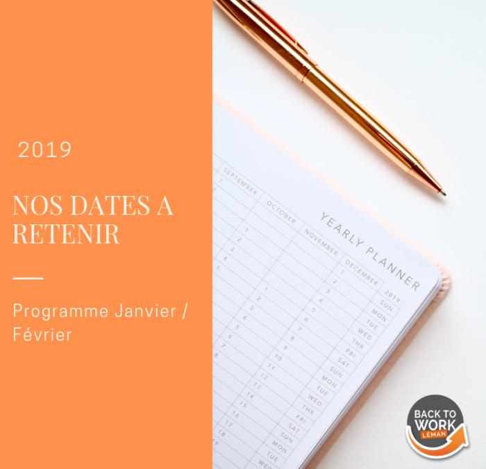 [AGENDA ] – Programme Janvier/ Février 2019
