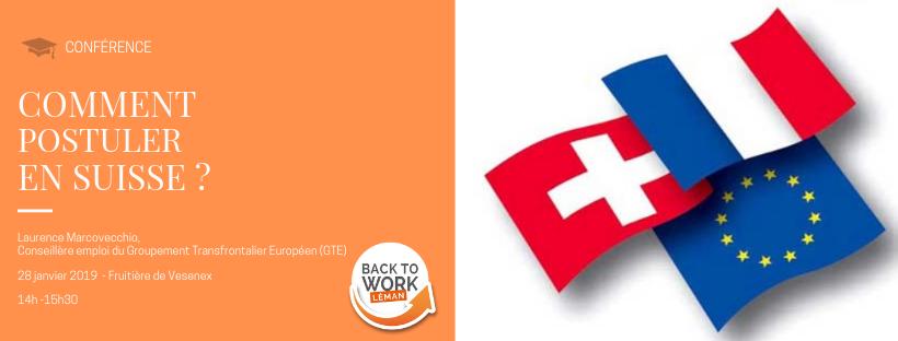 [Conférence] Comment postuler en Suisse ?