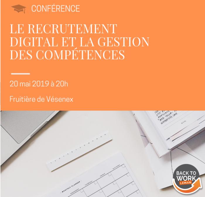 [CONFÉRENCE] Le recrutement digital et la gestion des compétences