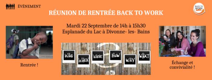 {ÉVÉNEMENT} Réunion de rentrée 2020