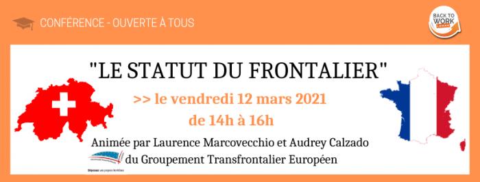 {CONFÉRENCE BTWL} LE STATUT DU FRONTALIER