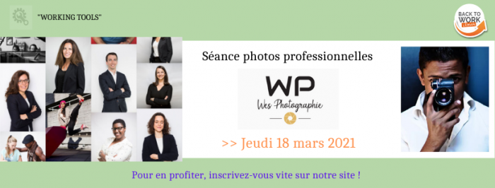 {WORKING TOOLS} Photoshooting CV/LinkedIn du 18 mars 2021
